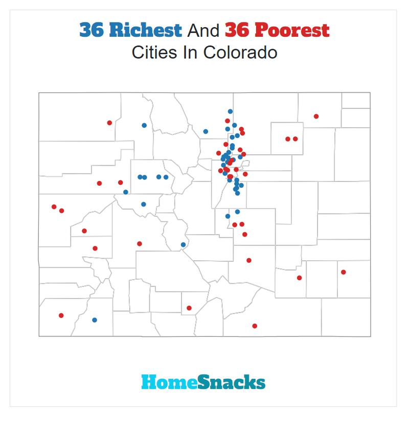 Map Of The Richest Places To Live In Colorado
