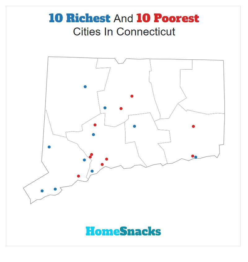 Map Of The Richest Places To Live In Connecticut