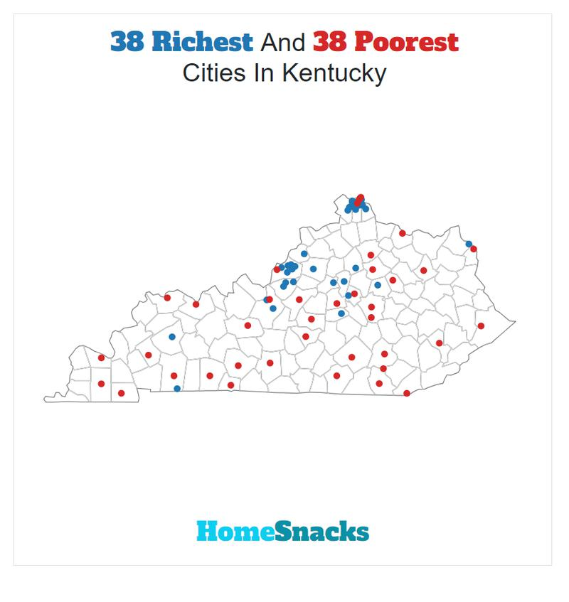 Map Of The Richest Places To Live In Kentucky