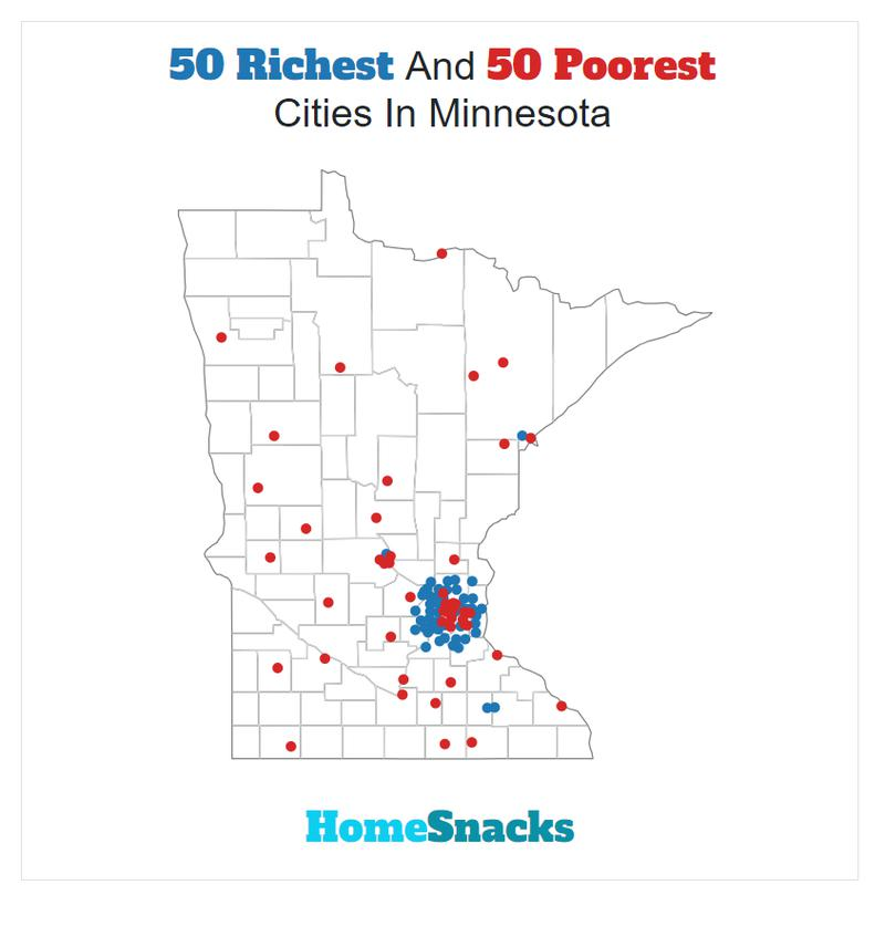 Map Of The Richest Places To Live In Minnesota
