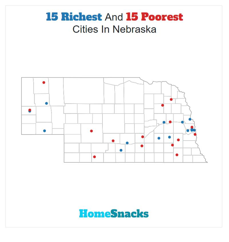 Map Of The Richest Places To Live In Nebraska