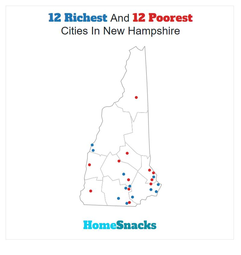 Map Of The Richest Places To Live In New Hampshire