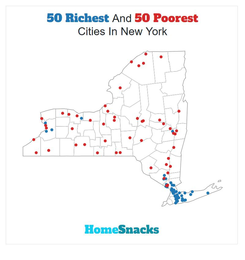 Map Of The Richest Places To Live In New York