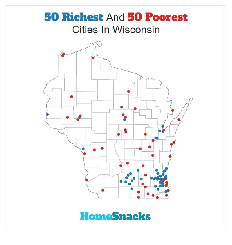 Sussex Wisconsin Map.These Are The 10 Richest Cities In Wisconsin For 2019 Homesnacks