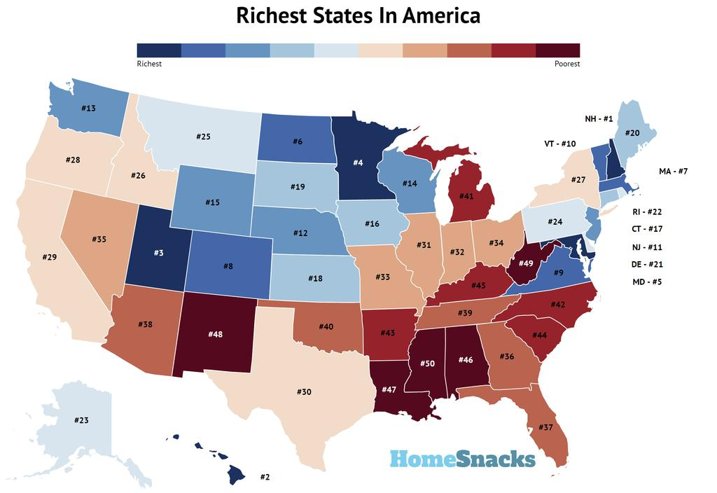 Richest Cities In The US Map