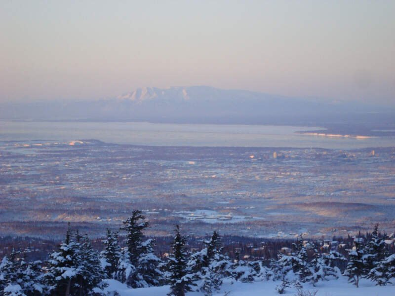 Anchorage Alaska And Sleeping Lady