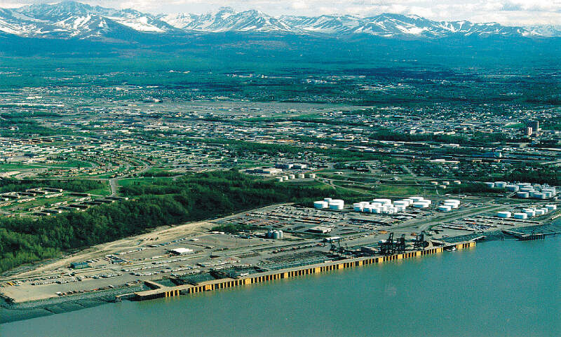 Anchorage Alaska Aerial View