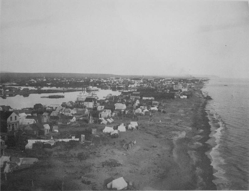 Birds Eye View Of Nome Alaska