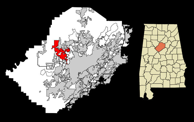 Jefferson County Alabama Incorporated And Unincorporated Areas Adamsville Highlighted