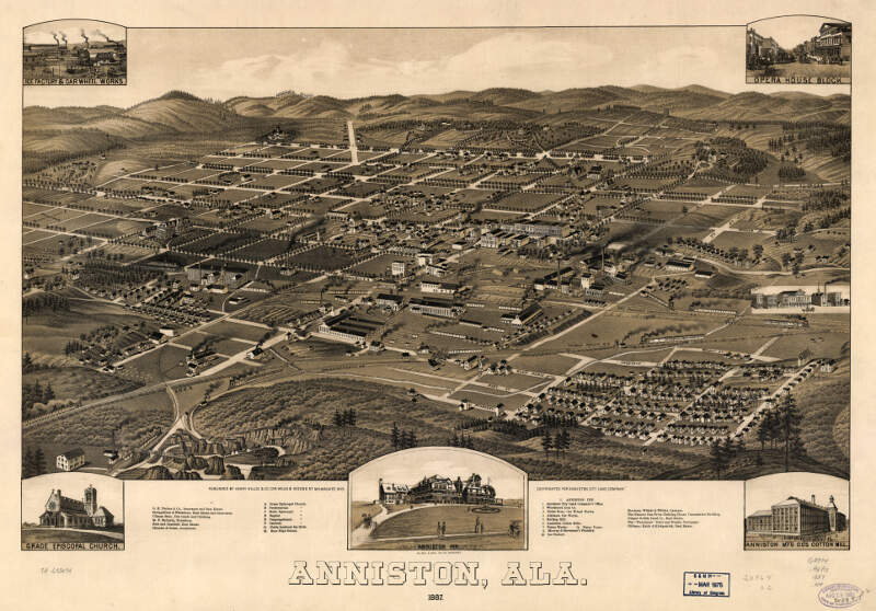 Perspective Map Of Anniston Alabama