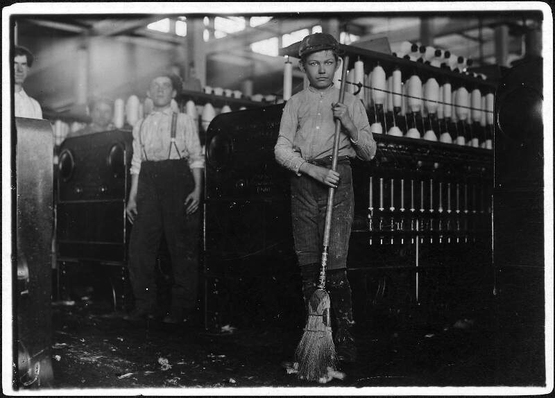 Young Sweeper Working In Anniston Yarn Mills