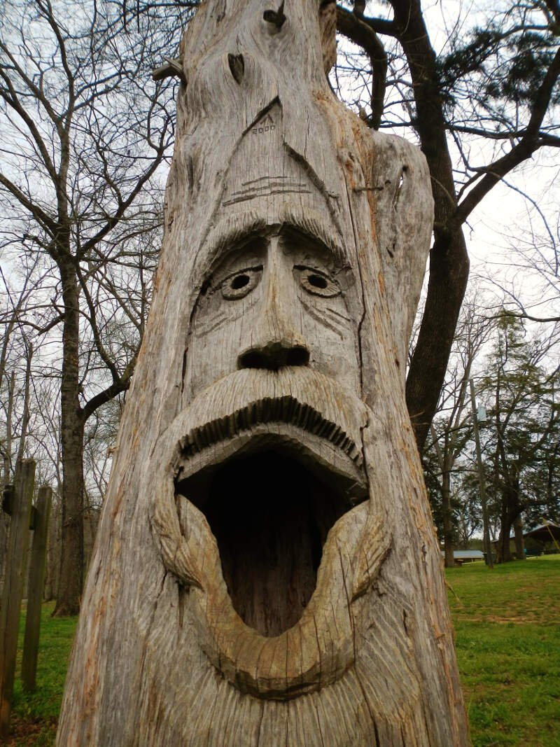 Montevalloc Alabama Tim Tingle Tree Carvings In Orr Park
