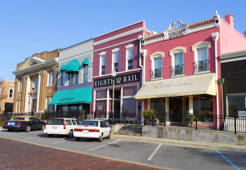 Railroad Avenue Historic District Opelika Alabama