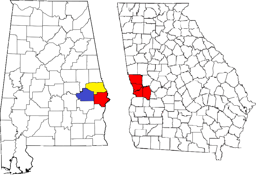 Columbusc Ga Auburnc Al Metro Area Map
