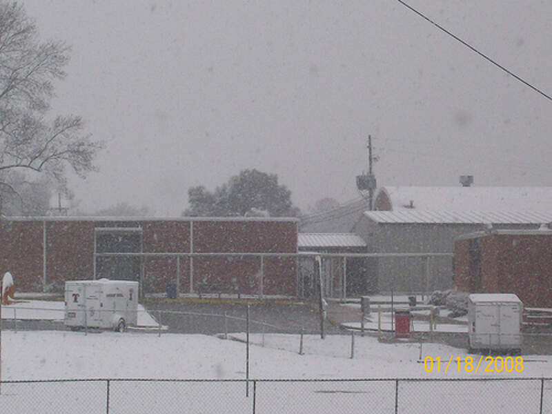 Thorsby High School In Snow