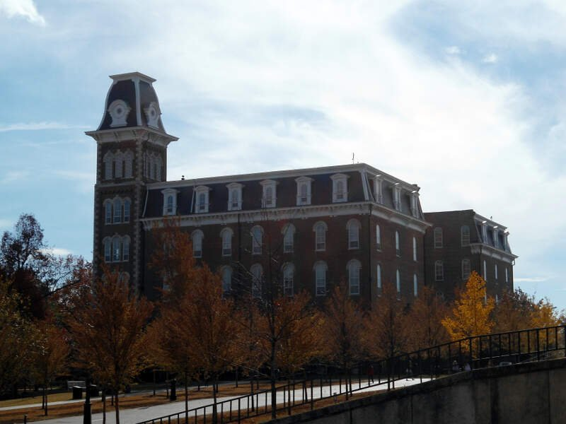 Old Main From The Northwestc University Of Arkansasc Fayettevillec Arkansas Autumn
