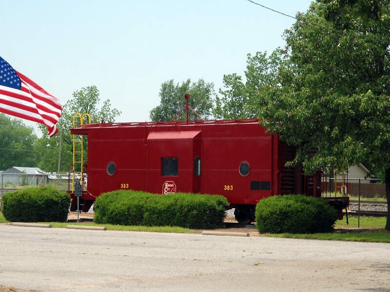 Kansas City Southern Caboose In Gravettec Ar