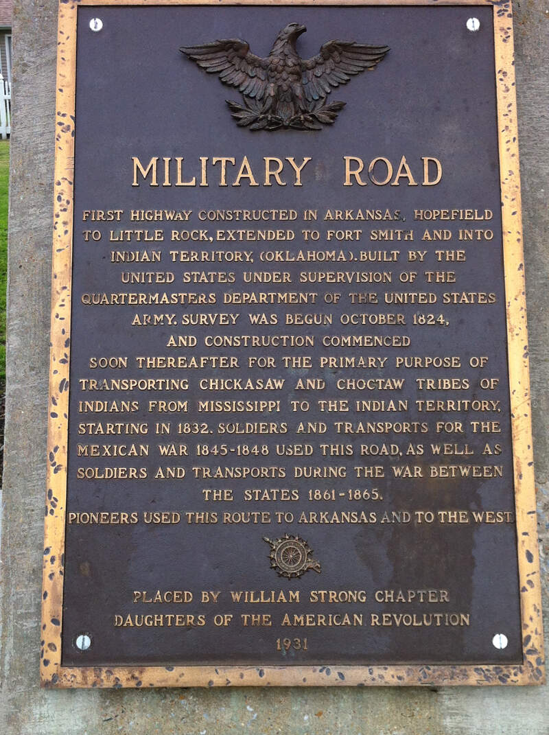 Military Road Marker Us  Marion Ar