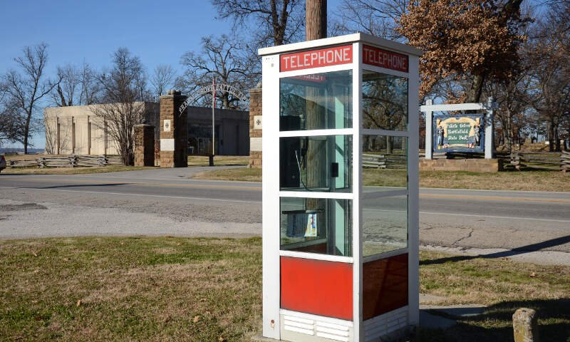 Prairie Grove Airlight Outdoor Telephone Booth  Of