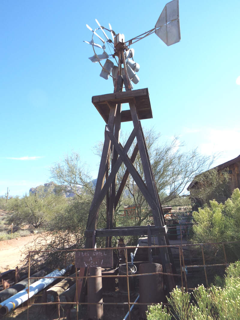 Apache Junction Superstition Mountain Museum Windmill
