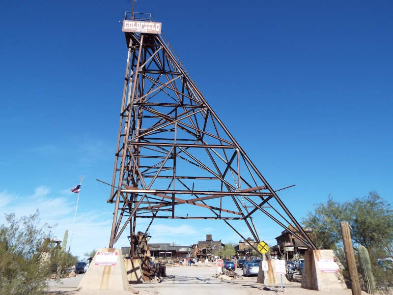 Apache Junction Goldfield Ghost Town Tower