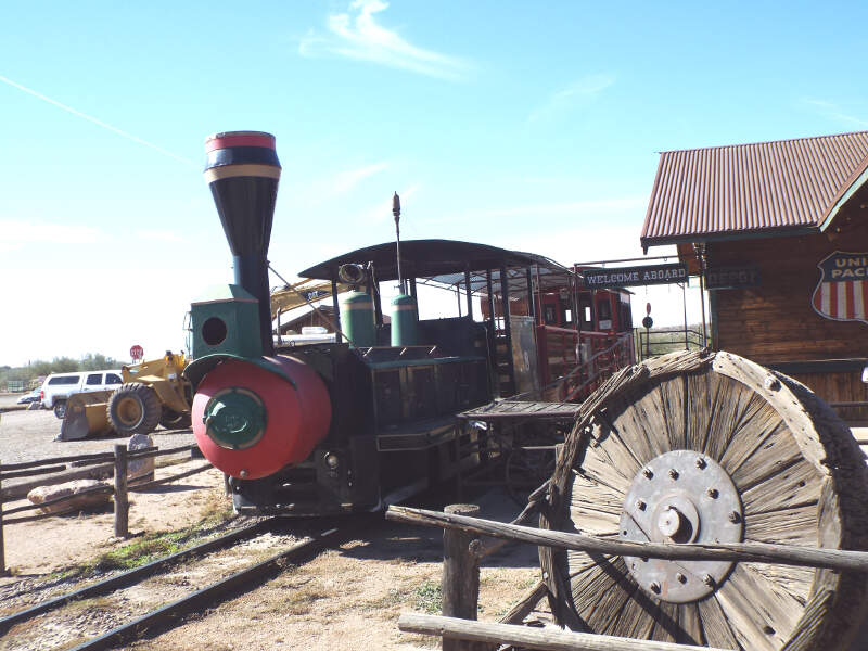 Apache Junction Goldfield Ghost Town Railroad Station
