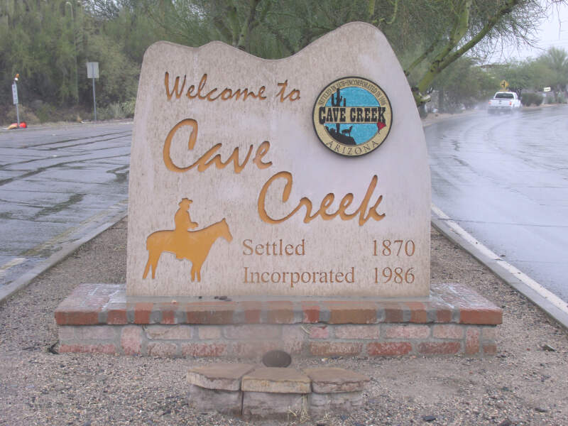 Cave Creek Welcome To Cave Creek Marker