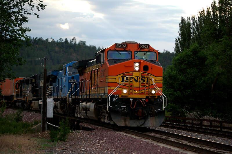 Bnsf Train Crossing Beaverst