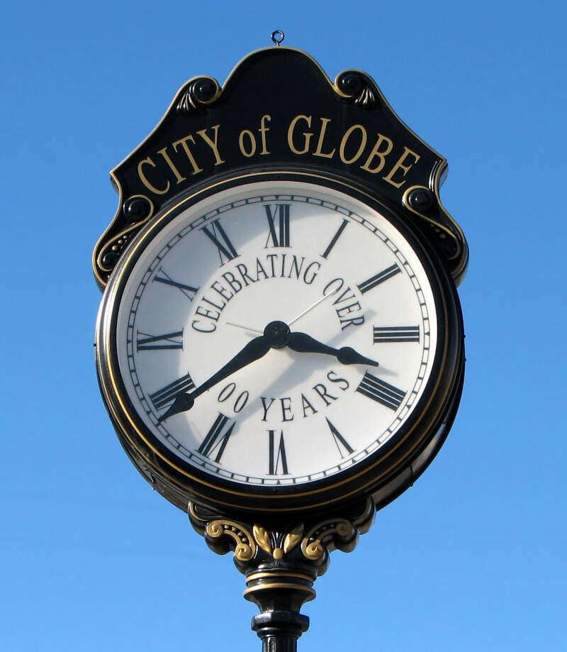 Street Clockc Globe