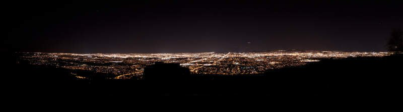Phoenix Skyline From South Mountain At Night