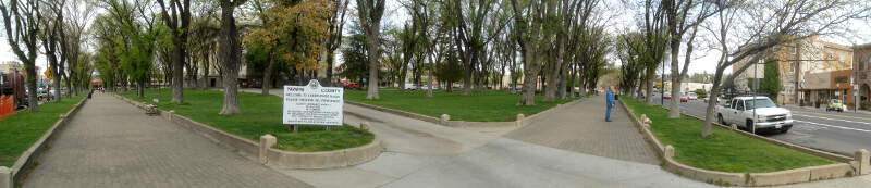 Panorama Of The Courthouse Square In Downtown Prescottc Arizona