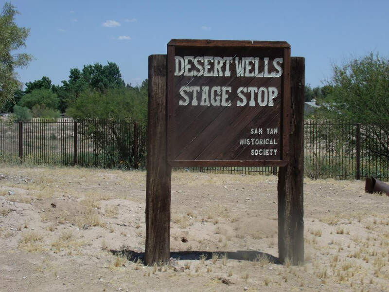 Queen Creek Desert Wells Stage Stop Marker