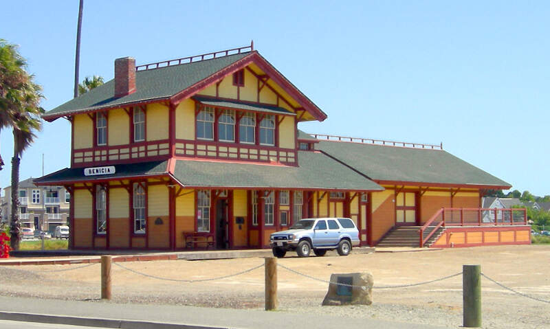 Southern Pacific Rr Depot Beniciac Ca