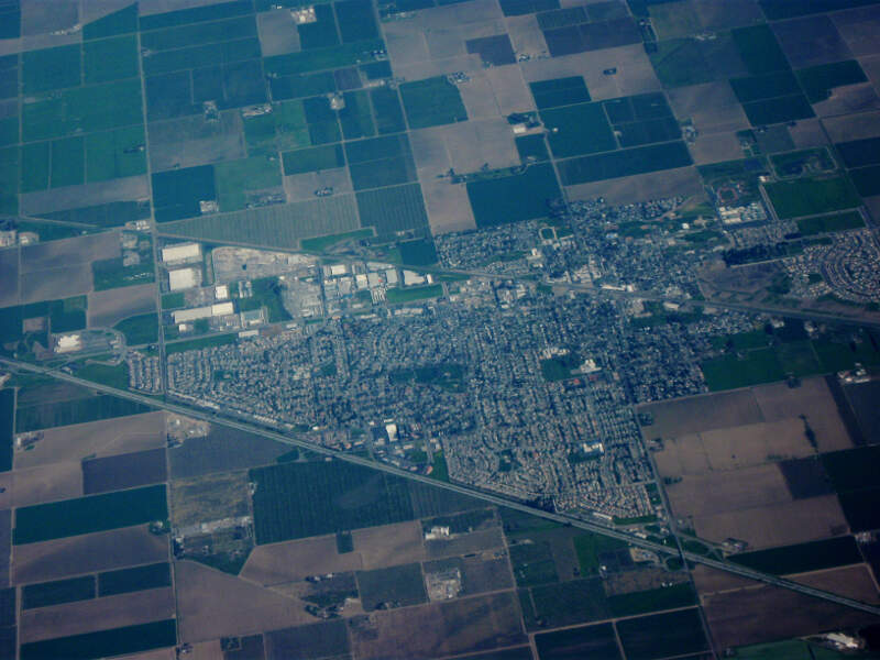 Aerial View Of Dixonc California
