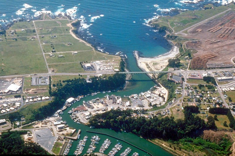 Fort Bragg California Aerial View