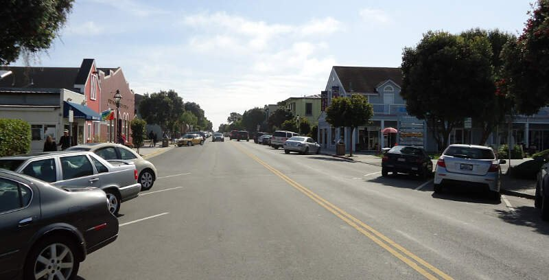Half Moon Bay California Main Street