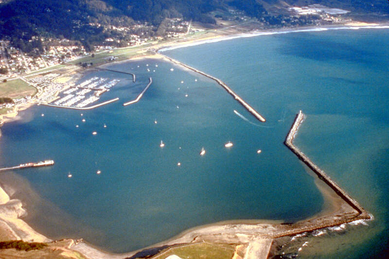 Pillar Point Harbor Aerial View