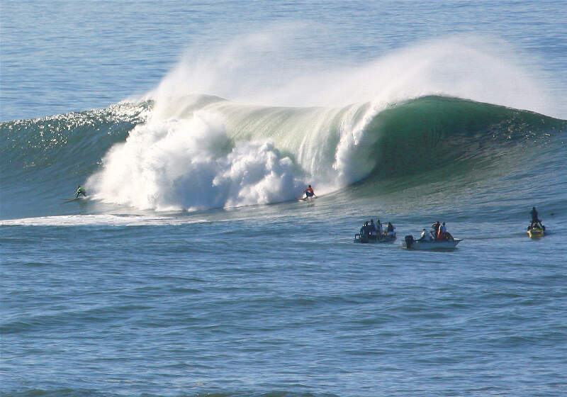Surfers At Mavericks