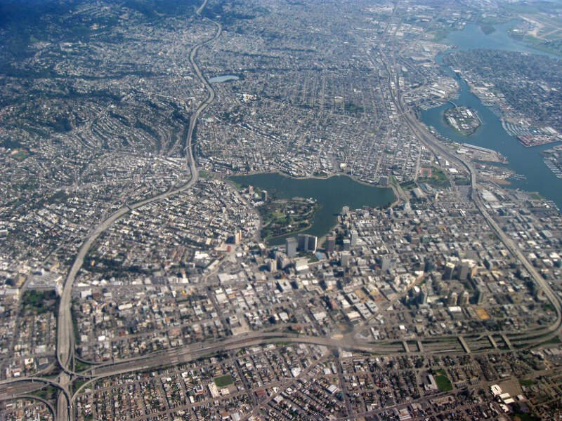 Aerial View Of City Of Oakland