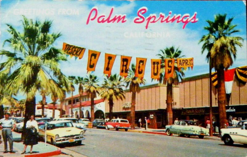 Greetings From Palm Springs  Palm Canyon Drive Postcard S