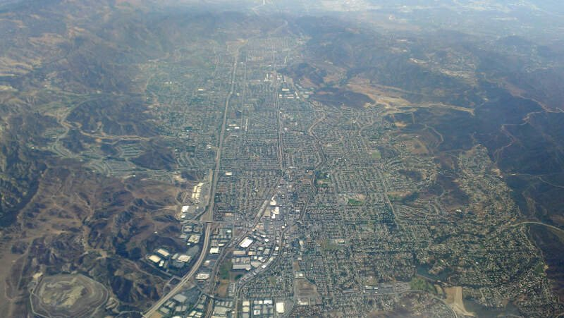 Simi Valley Aerial From West August