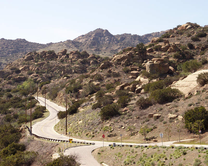 Santa Susana Pass Rd West From Topanga