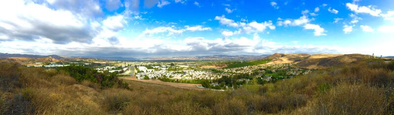 Simi Valley Skyline From Its Southern End In Tierra Rejada Park