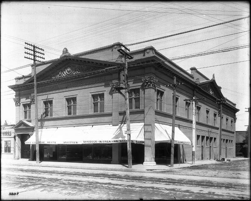 Exterior View Of The South Gate Masonic Temple Building And The Grocery Store Occupying The Bottom Floorc Los Angelesc Ca