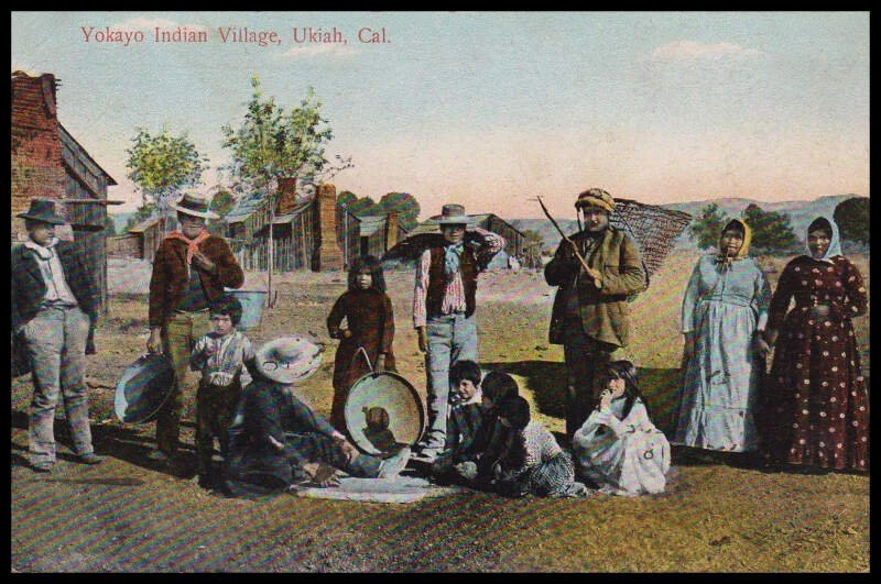 Yokayo People At Ukiah California