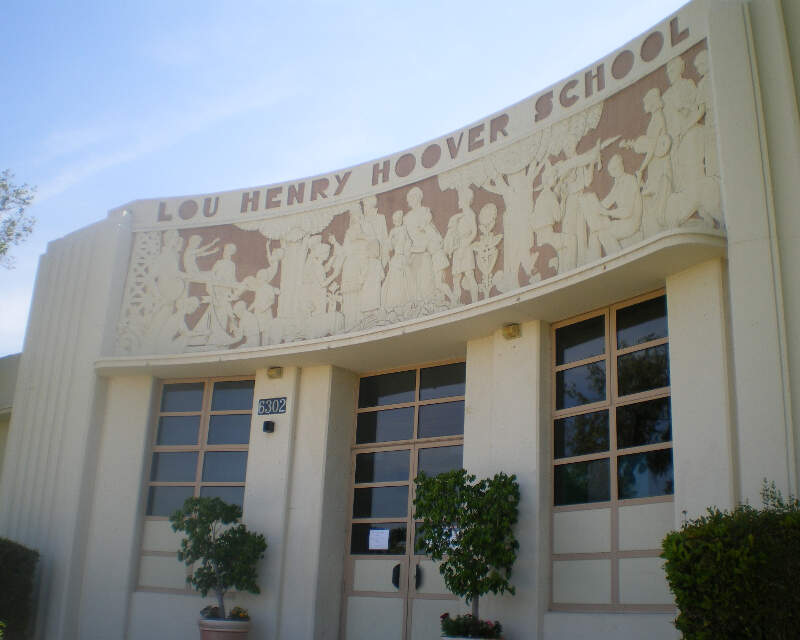Frieze At Lou Henry Hoover Schoolc Whittier