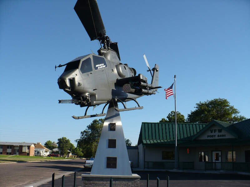 Ah On Display In Front Of The Vfw Post In Burlingtonc Colorado