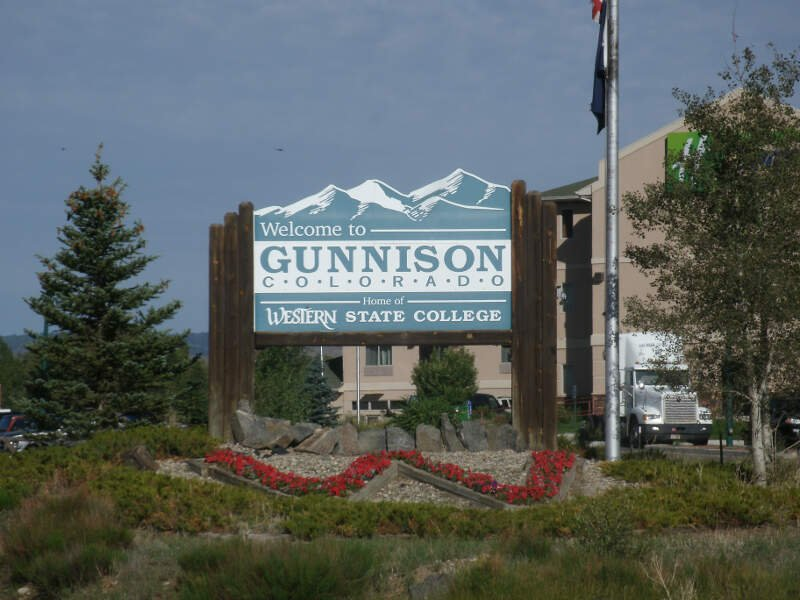 Welcome To Gunnison From The East