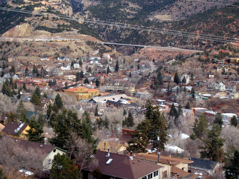 Overlooking The City Of Manitou Springs Colorado