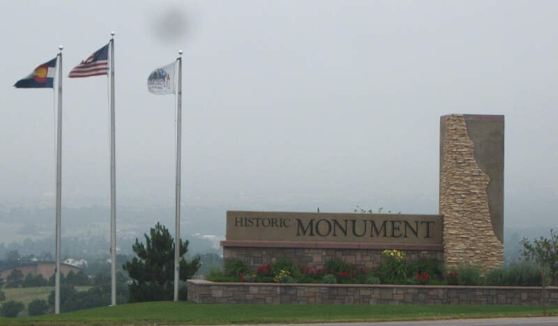Monument Welcome Sign